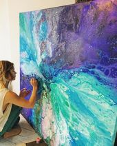 Through gorgeous, ethereal paintings, artist Emma Lindstrm creates a tangible re…