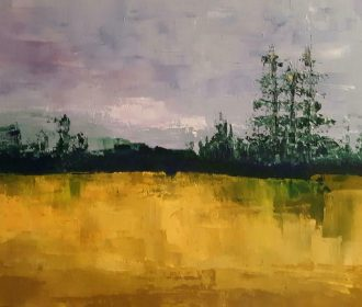 Original Acrylic Abstract Landscape Painting, Texture, 11″ x 14″Michele Helders