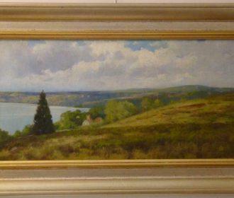 "Massachusetts "" Merrimack River Looking From Merrimacport Mass "" Horace P. Giles"