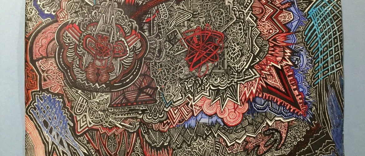 Original Abstract artwork – pen & Ink – For Sale By Artist.