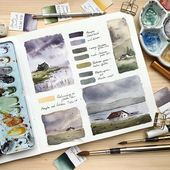 Artist Shares Watercolor Studies of Landscapes from Her Sketchbook