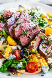 Balsamic Steak Gorgonzola Salad with Grilled Corn – Aberdeen's Kitchen