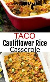 Taco Cauliflower Rice Casserole