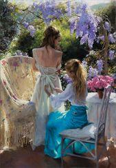 Spanish Artist Explores Tender Feminine Beauty Through His Pastel Paintings (70 …