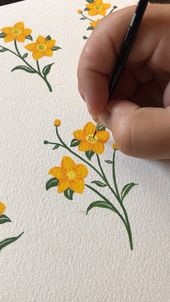 Wildflower Gouache Painting
