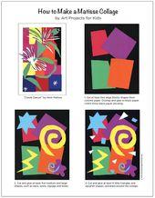 Make a Matisse style collage with my PDF tutorial. #matisse #artprojectsforkids