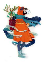 Mythical Cut Paper Collages by Artist Morgana Wallace #papercraft #illustration …