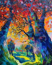 Brilliant Textured Paintings Capture European Countrysides in Kaleidoscopic Colors