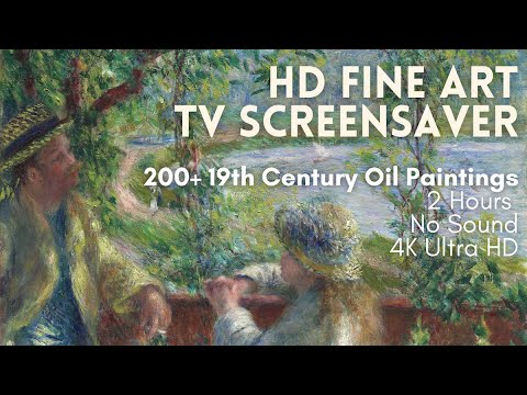 Relaxing HD Fine Art Screensaver for TV – 200+ 19th Century Oil Paintings (2 Hours, No Sound)