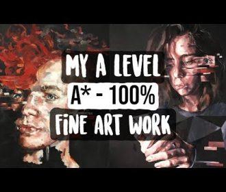 A Level Fine Art Book Flip Through (A* – 100%)