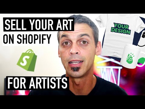 BASIC SHOPIFY TUTORIAL FOR ARTISTS – Sell Your Art + FAVORITE APPS | Printify | Fine Art America