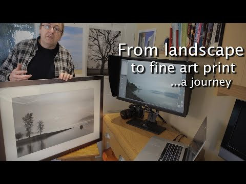 From landscape to fine art print in black and white. Making a photo print, from beginning to end
