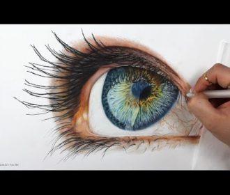 TIMELAPSE – Drawing a Realistic Eye – Channel Sheldene Fine Art