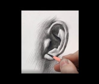 You can use this technique to Draw an Ear